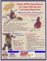 Informational Flyer for Model AP96 Hard Mount for Laser Mining